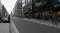 Friedrichstrasse. Berlin. Galeries Lafayette Stock Footage