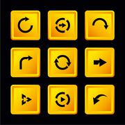 Vector set of buttons with arrows Stock Illustration