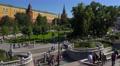 Russia, Moscow citysacape.  Maneznaya Square and Alexandrovski garden. 4k or 4k+ Resolution