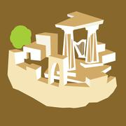 ancient ruins - stock illustration
