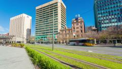 4k timelapse video of the downtown area of Adelaide, South Australia Stock Footage