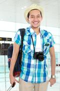 Stock Photo of tourist in airport
