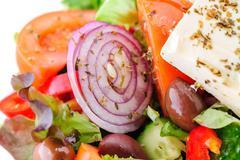 authentic greek salad - stock photo