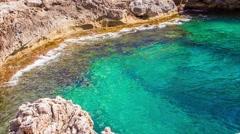 Majorca Island (Spain) Porto Colom and coast Stock Footage