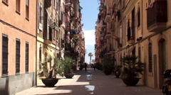 Types of Barcelona. Barceloneta dwelling neighborhood. Stock Footage