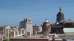 Types of Barcelona. View over rooftops from the Casa Batlló. Stock Footage