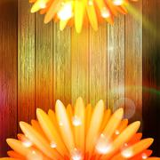 Flower with dew on wood. plus EPS10 Stock Illustration