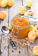 Stock Photo of homemade apricot jam
