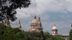 Types of Barcelona. Palau Nacional. Catalonia, Spain. Stock Footage