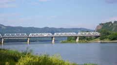 Mana river road bridge 02 Stock Footage