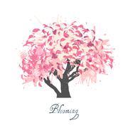 Stock Illustration of Apple tree blossom sketch