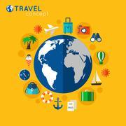 Travel concept - stock illustration