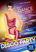 Disco party poster Stock Illustration