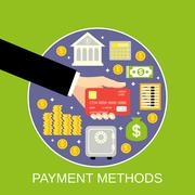 Payment methods concept - stock illustration