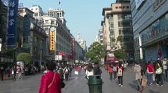 Shanghai Pedestrian Mall Stock Footage