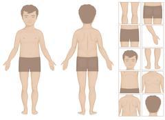 Body parts Stock Illustration