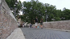 Bridge of The Tiber Island Stock Footage