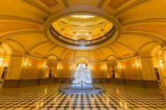 california capitol rotunda - stock photo