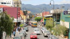 Street in downtown San Jose, Costa Rica Stock Footage