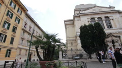 The Jewish synagogue in Rome Stock Footage