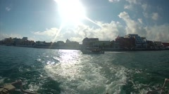 Island From Boat Stock Footage