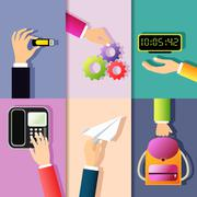 Business hands icons - stock illustration