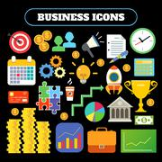 Stock Illustration of Business icons set