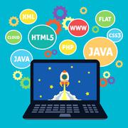 Web design coding - stock illustration