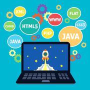 Web design coding Stock Illustration