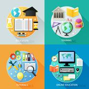 Business education concept - stock illustration