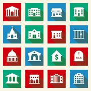 Stock Illustration of Government Buildings Icons