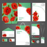 Poppy corporate identity - stock illustration