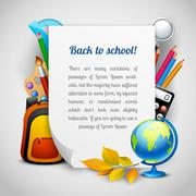 School elements background Stock Illustration