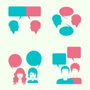 Dialogue  Stock Illustration