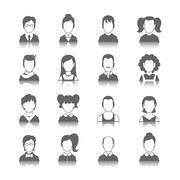 Avatar Icons Set - stock illustration