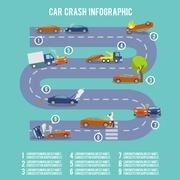 Car crash infographics - stock illustration