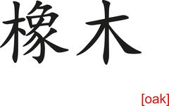 Stock Illustration of Chinese Sign for oak
