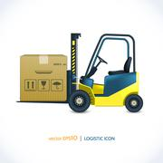 Logistic icon forklift Stock Illustration