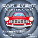 Stock Illustration of Retro car event poster