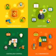 Smart home technology concept - stock illustration