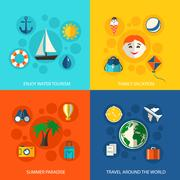 Stock Illustration of Summer travel vacation concept