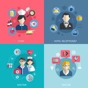 Stock Illustration of People professions concept