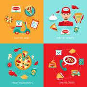 Stock Illustration of Pizza decorative set