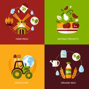 Agriculture icon set Stock Illustration