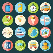 Stock Illustration of Travel icons set