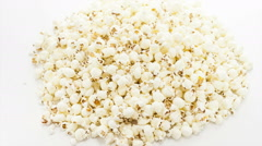 Rotating heap of popcorn, medium framing Stock Footage