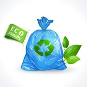 Stock Illustration of Ecology symbol plastic bag