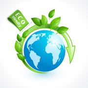 Ecology symbol globe - stock illustration