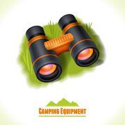 Stock Illustration of Camping symbol binocular