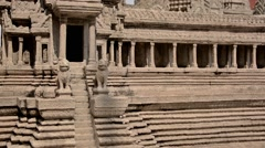 Angkor Wat scale model at the Grand Palace in Bangkok Stock Footage